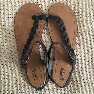Braided Teal Sandals